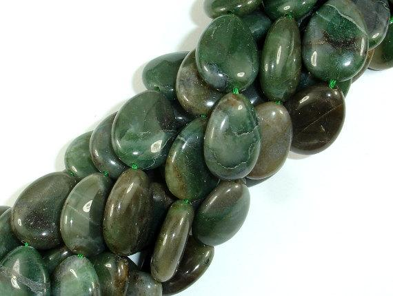 Jade, 15x20mm Flat Teardrop Beads-BeadBeyond