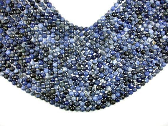 Sodalite Beads, 6mm Faceted Round Beads-BeadBeyond