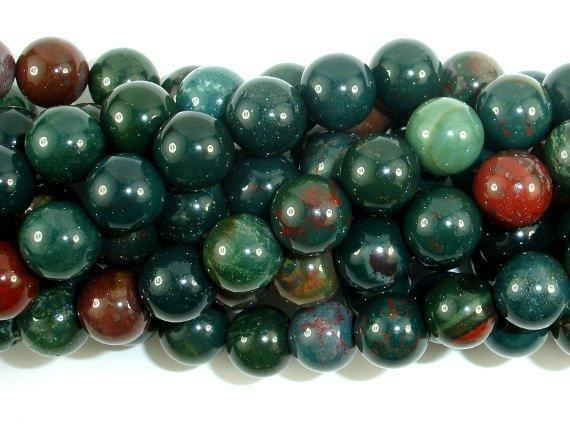 Indian Bloodstone, 8mm Round Beads-BeadBeyond