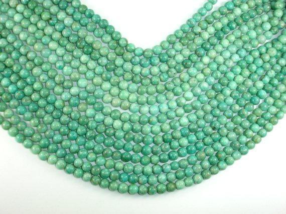African Amazonite Beads, 6mm(6.7mm) Round-BeadBeyond