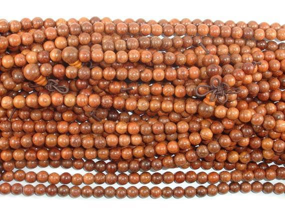 Rosewood Beads, 6mm Round Beads-BeadBeyond