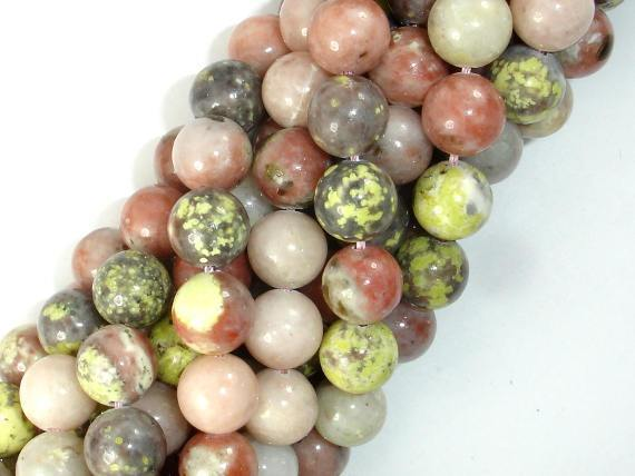 Spicy Jasper Beads, Plum Blossom Jasper, 10mm Round-BeadBeyond