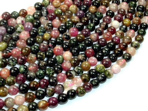 Tourmaline Beads, 6mm Round Beads-BeadBeyond