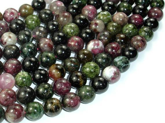 Tourmaline Beads, 10mm Round Beads-BeadBeyond
