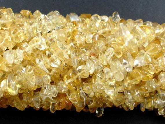 Citrine Beads, Pebble Chips-BeadBeyond