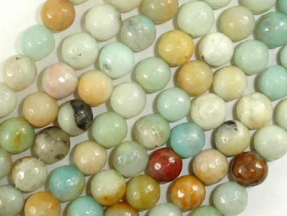 Amazonite Beads, 8mm Faceted Round-BeadBeyond