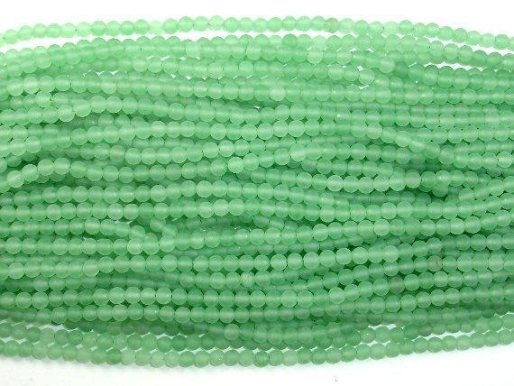 Matte Green Aventurine Beads, 4mm, Round Beads-BeadBeyond
