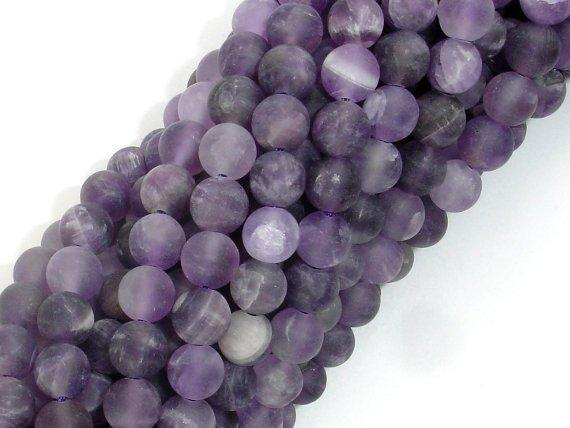 Matte Amethyst Beads, 6mm Round Beads-BeadBeyond