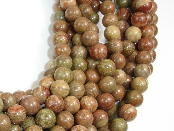 Saturn Jasper Bead, 8mm Round Beads-BeadBeyond