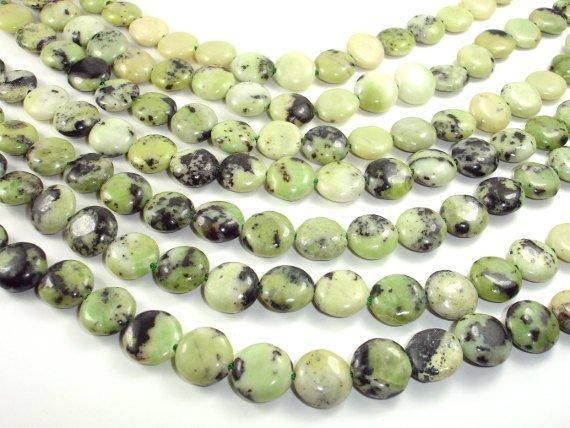 Chrysoprase Beads, Coin, 12mm-BeadBeyond
