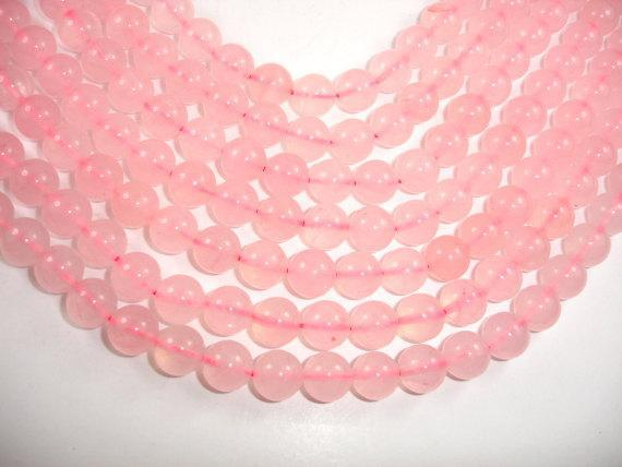 Rose Quartz Beads, 10mm (10.4mm) Round Beads-BeadBeyond