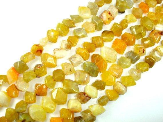 Agate Beads, Faceted Nugget, 12 x 16mm, 15.5 Inch-BeadBeyond