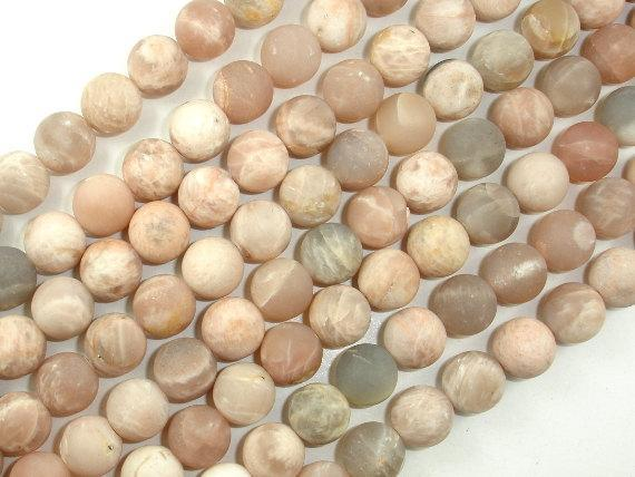 Matte Sunstone Beads, Round, 10mm-BeadBeyond