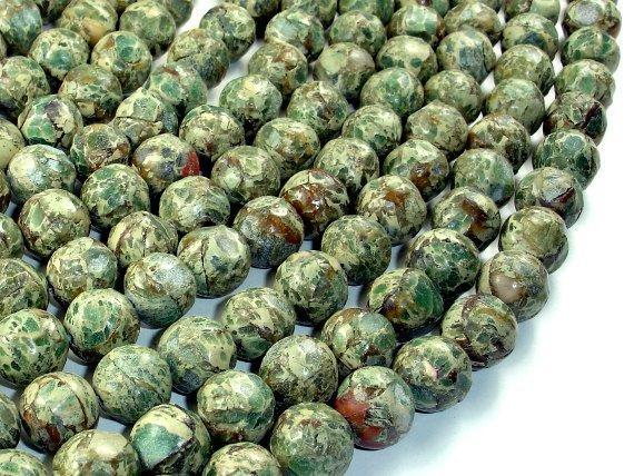 Aqua Terra Jasper Beads, Rough Round, 12mm-BeadBeyond