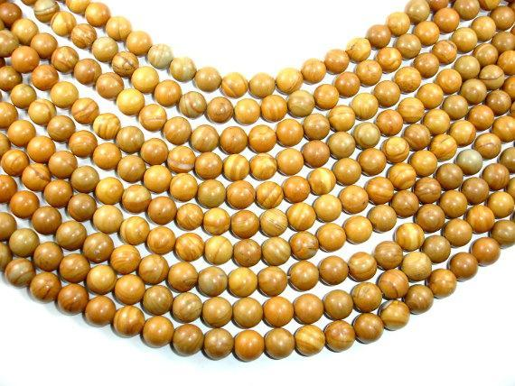 Wood Jasper Beads, Round, 10 mm, 15.5 Inch-BeadBeyond