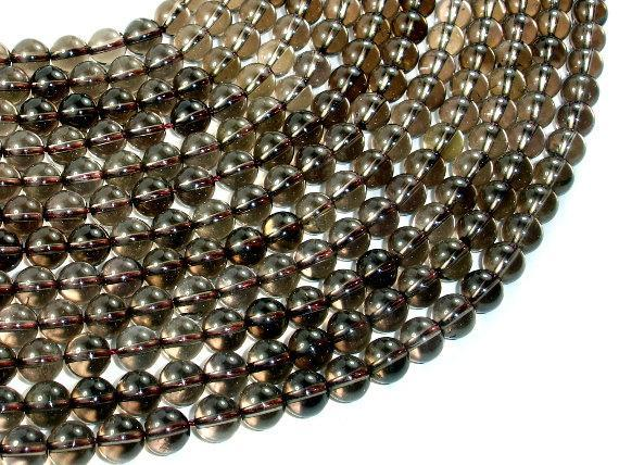 Smoky Quartz Beads, Round, 8mm-BeadBeyond