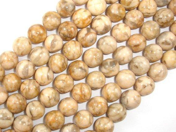 Feldspath Beads, Tiger Jasper Beads, Round, 12mm-BeadBeyond