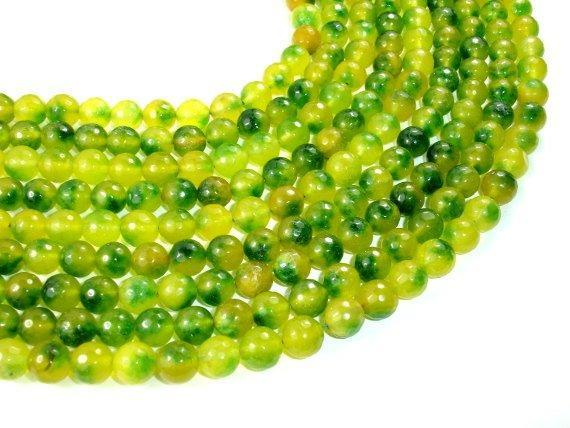 Agate Beads, 10mm Faceted Round Beads-BeadBeyond