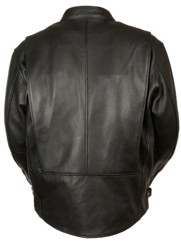 Milwaukee Leather Men/'s Classic Scooter Jacket w// Side Zippers***LKM1710