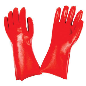 0651 - Cut Glove Reusable Rubber Hand Gloves (Red) - 1 pc