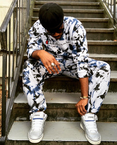 Blue/Black Splashed Sweatsuit