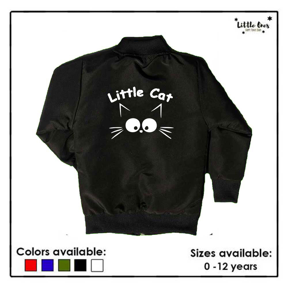 Little Cat Kids Bomber Jacket