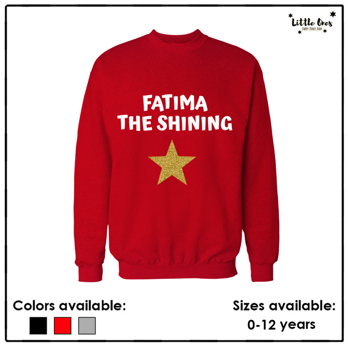 Glitter Shining Star Name Sweatshirt