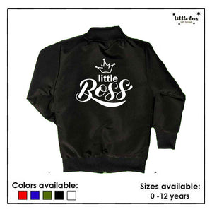 Little Boss Kids Bomber Jacket