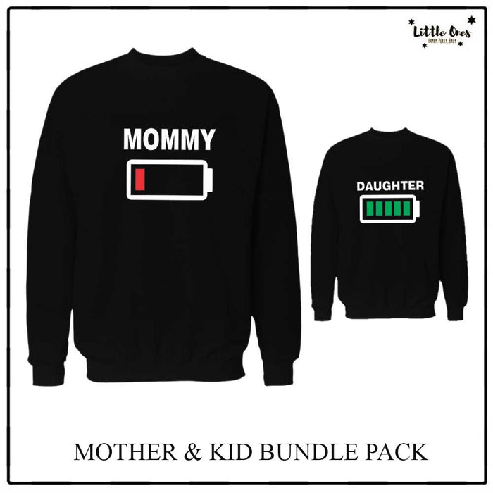 Mommy & Daughter Battery Sweatshirts bundle pack