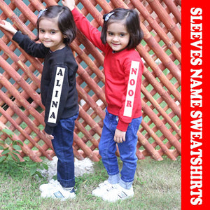 Kids Sleeves Name Sweatshirt