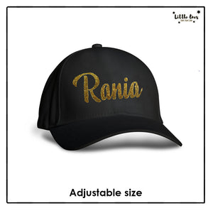 Kids Glitter Name Cap
