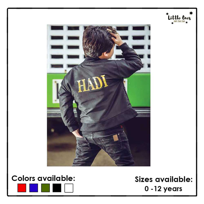 Kids Name Bomber Jacket
