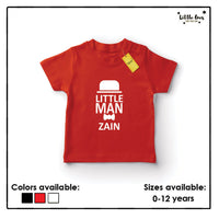 Kids Little Man Name Tshirt