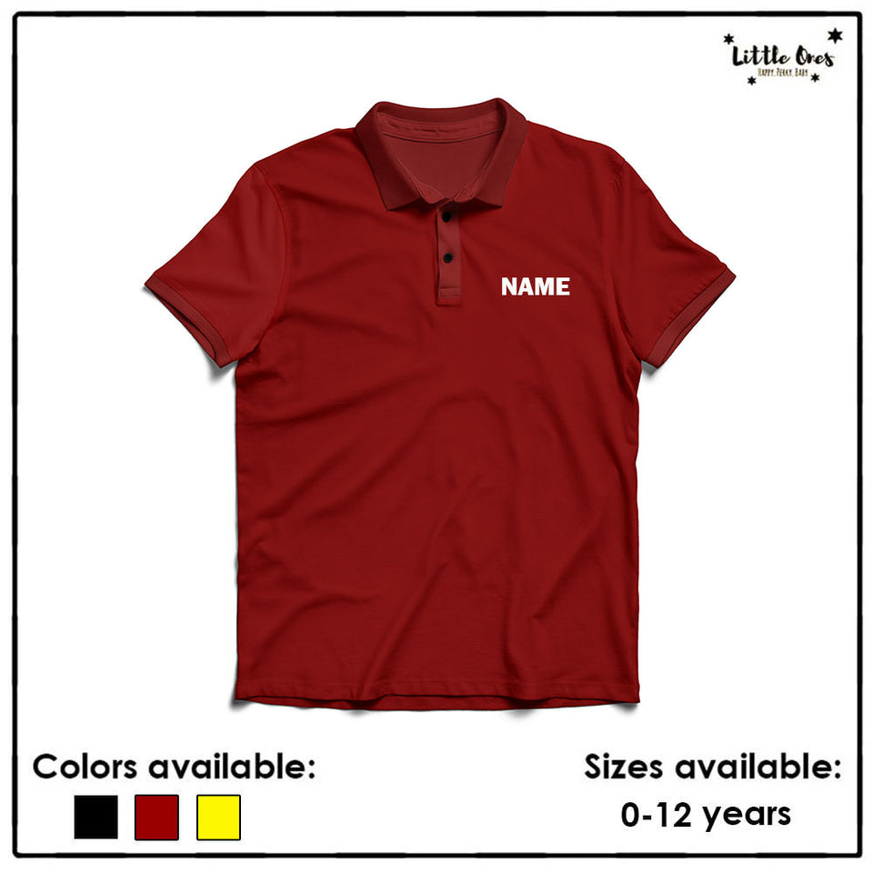 Kids Name Polo Tshirt