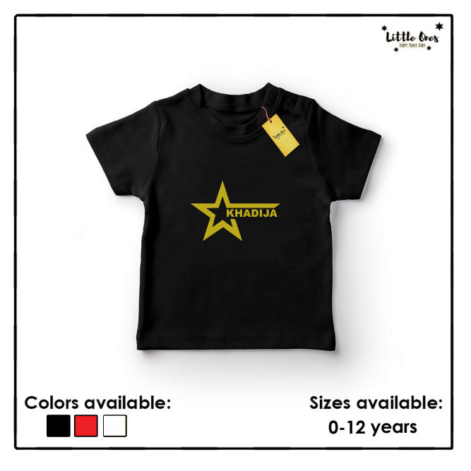 Kids Star Name Tshirt