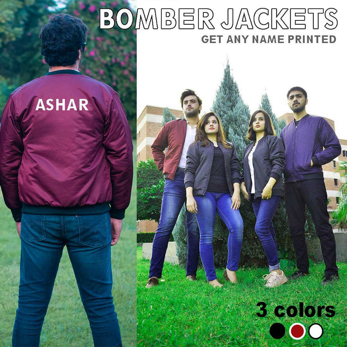 Adult Name Bomber Jacket