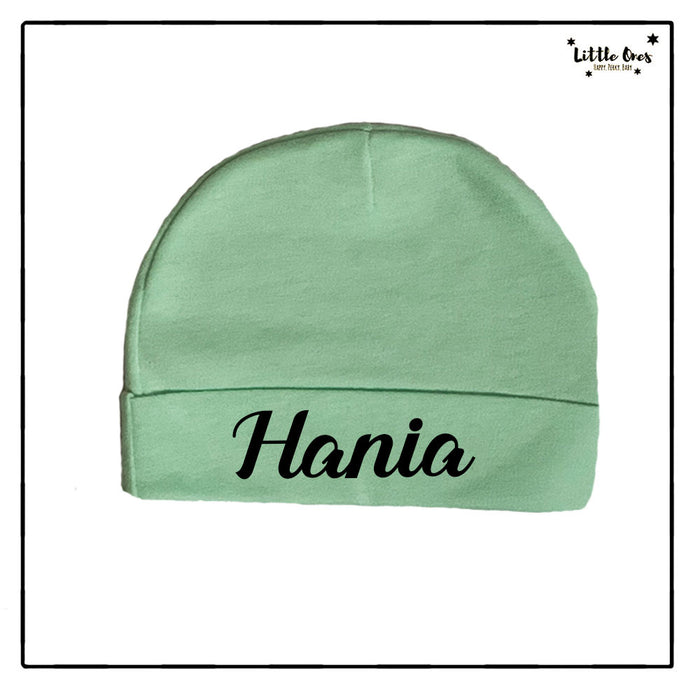 Green Name Beanie