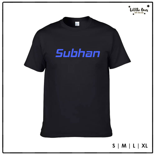 Adult Name Tshirt - Blue print