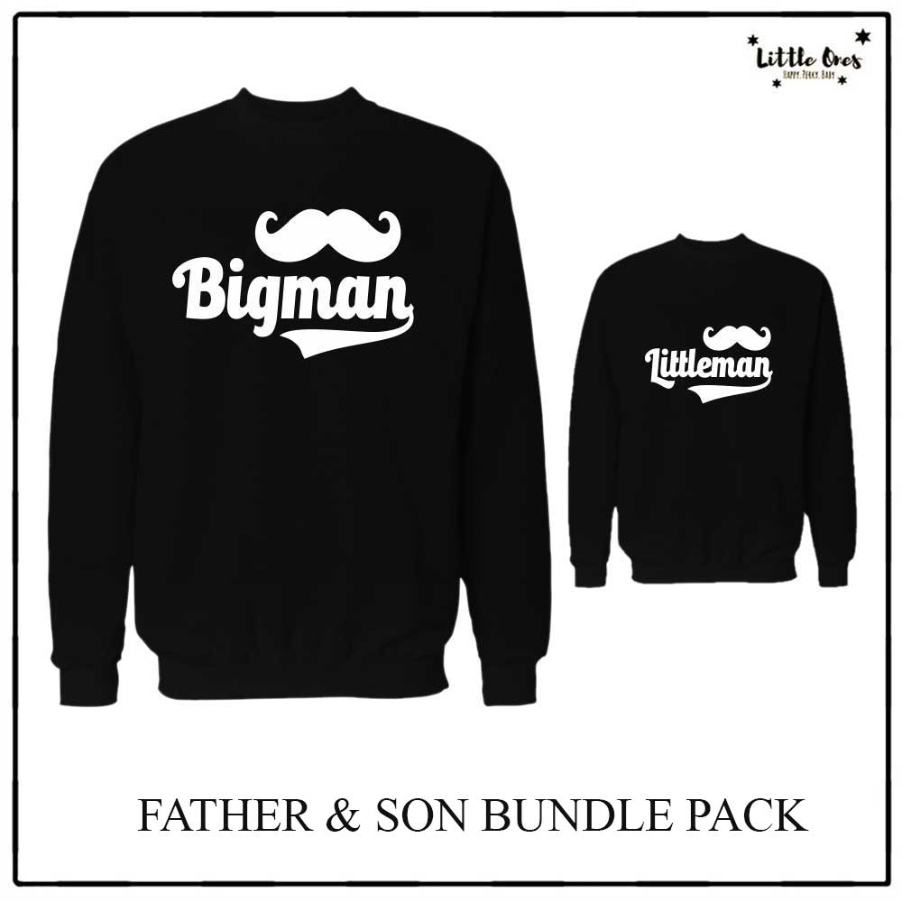 Bigman Littleman Sweatshirts bundle pack