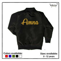 Kids Glitter Name Jacket