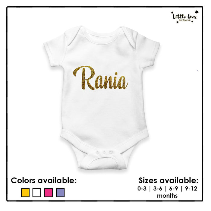 Customized Glitter Name Romper
