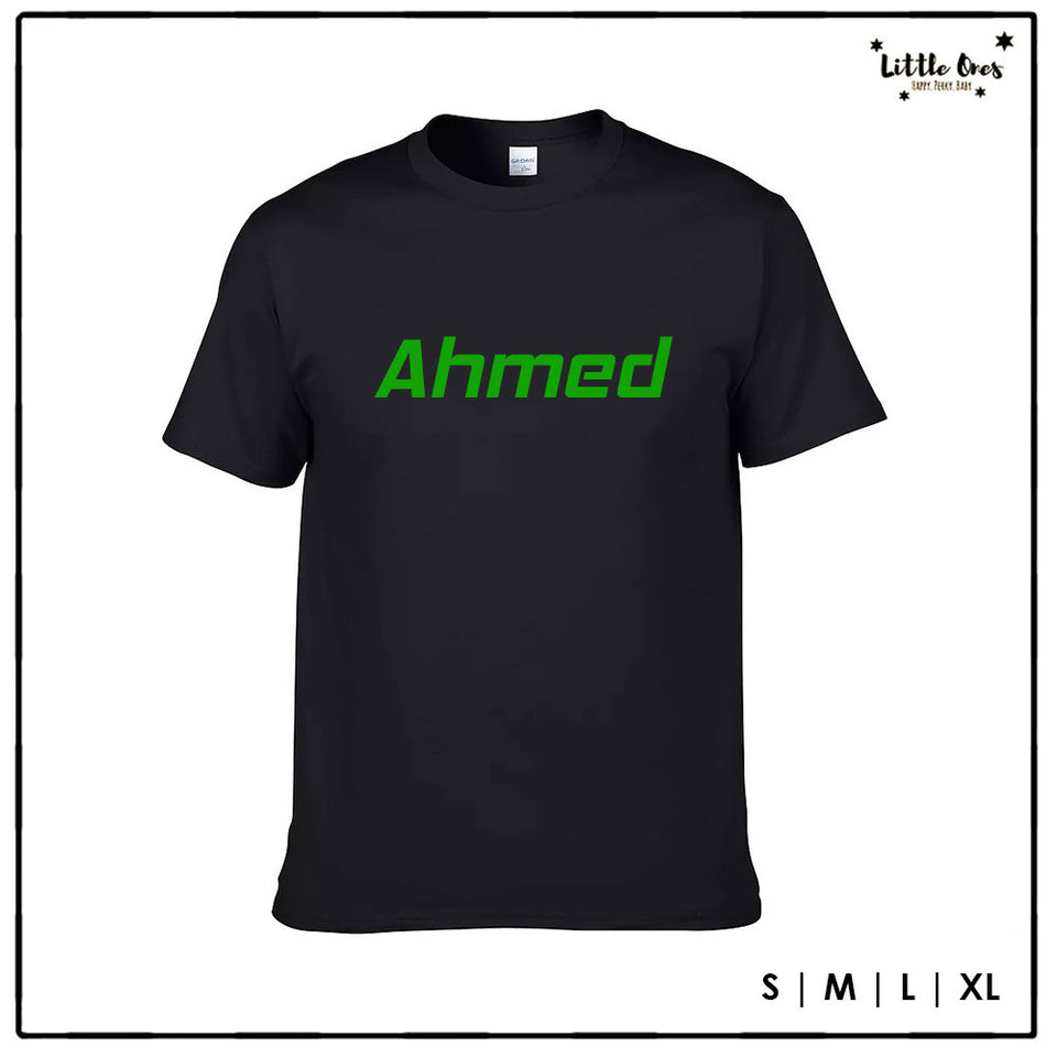 Adult Name Tshirt - Green print