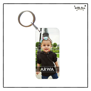 Kids Picture & Name Keychain