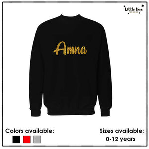 Kids Glitter Name Sweatshirt