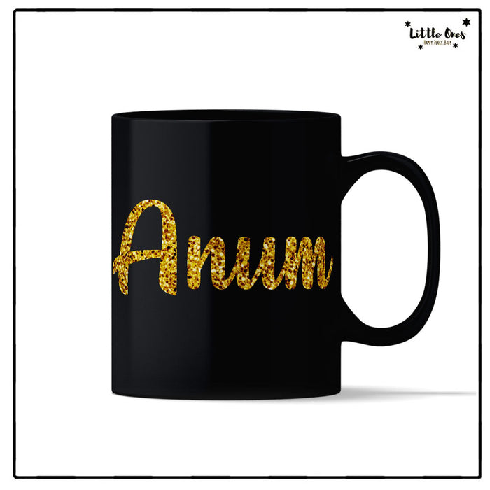 Glitter Name Magic Mug
