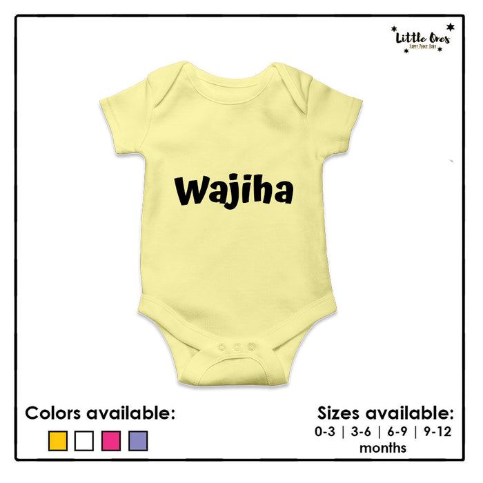 Customized Name Romper