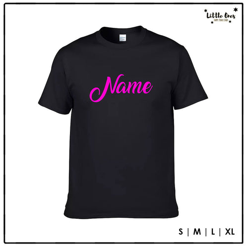 Adult Name Tshirt - Pink print