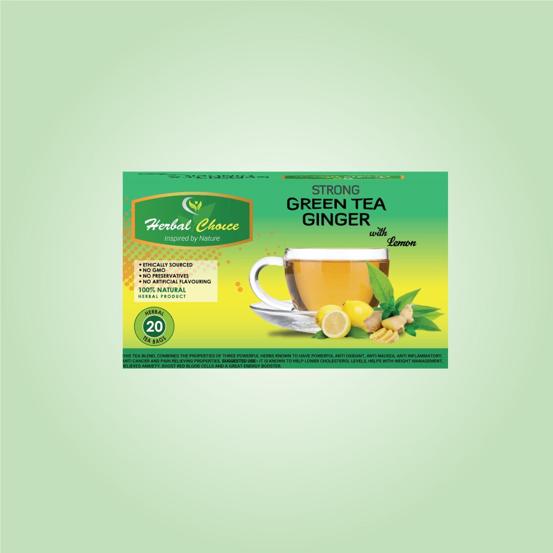 Strong Green Tea Ginger with Lemon-Crownherbalproducts