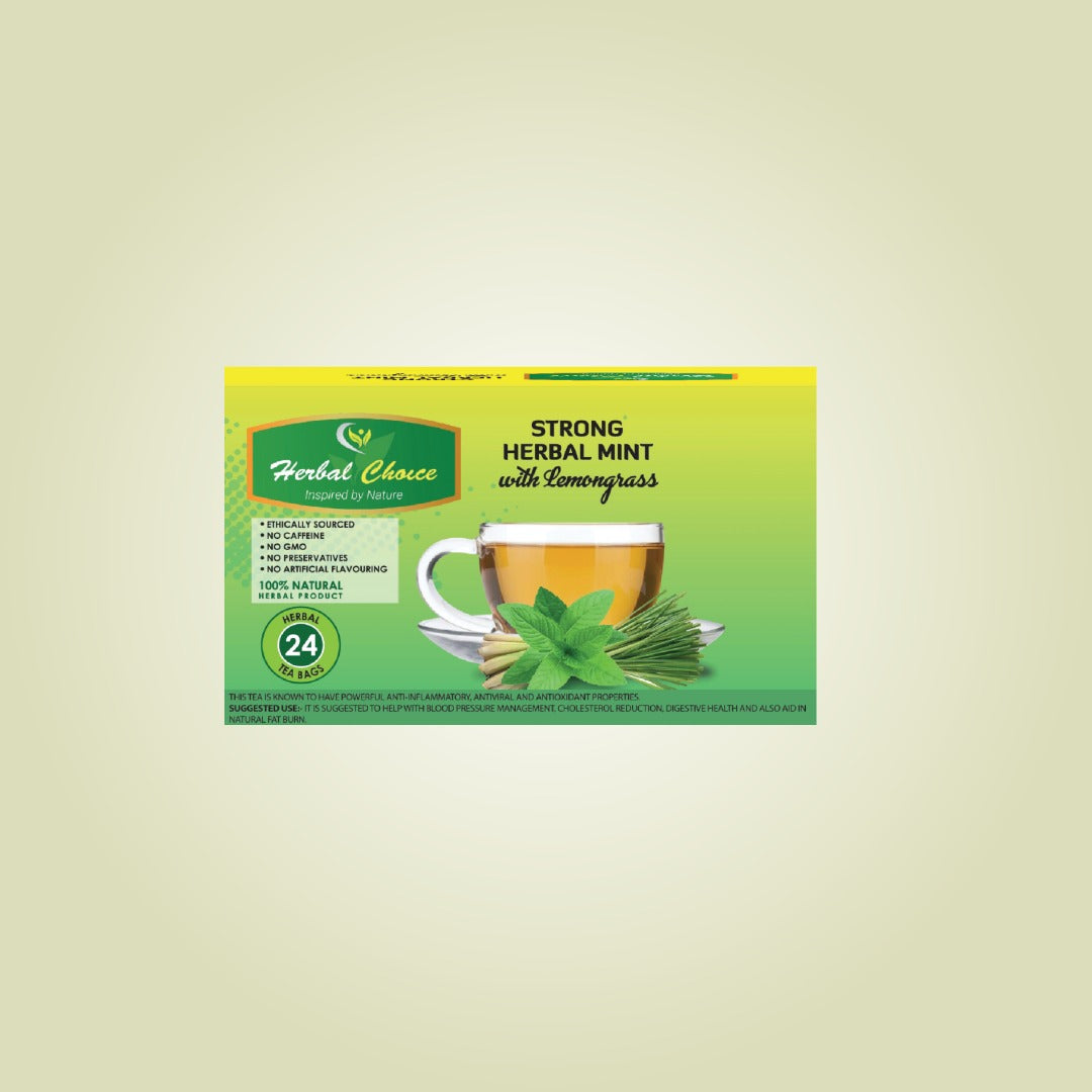 Strong Herbal Mint with Lemongrass Tea-Tea-Crownherbalproducts