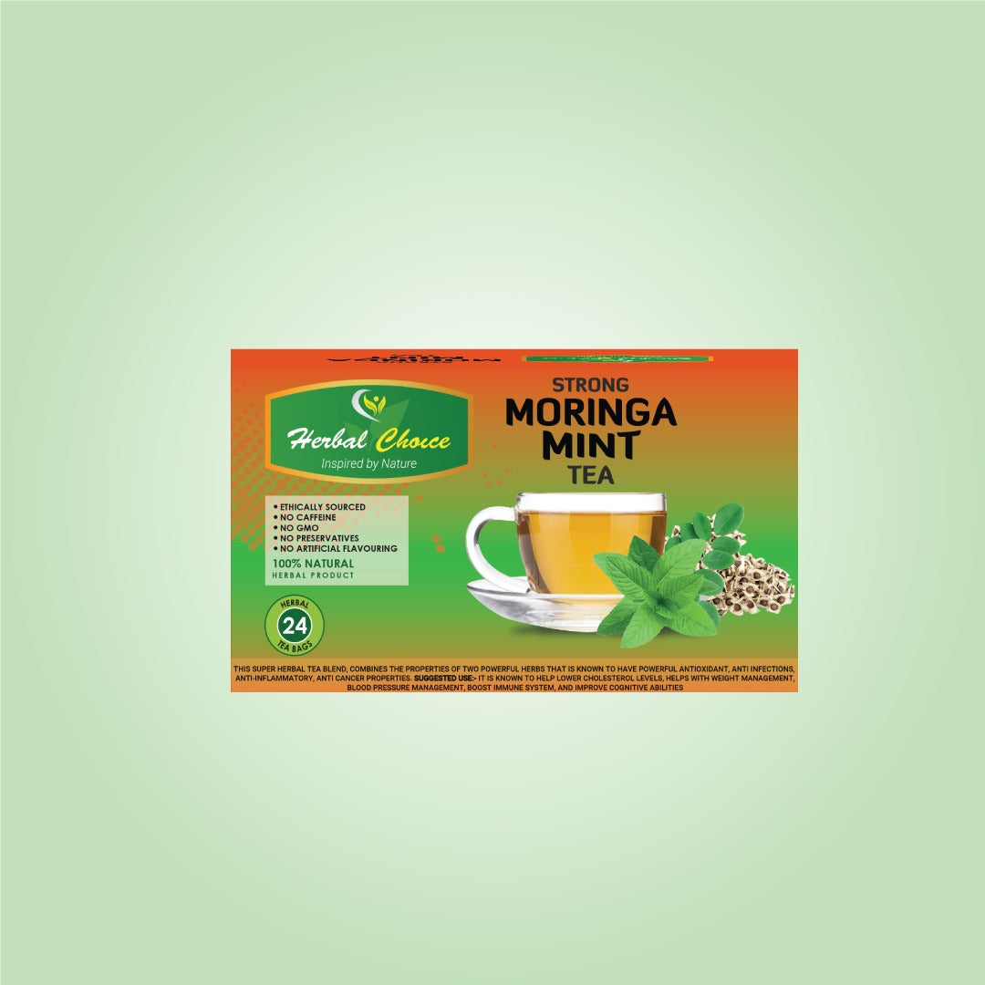 Strong Moringa Mint Tea-Crownherbalproducts